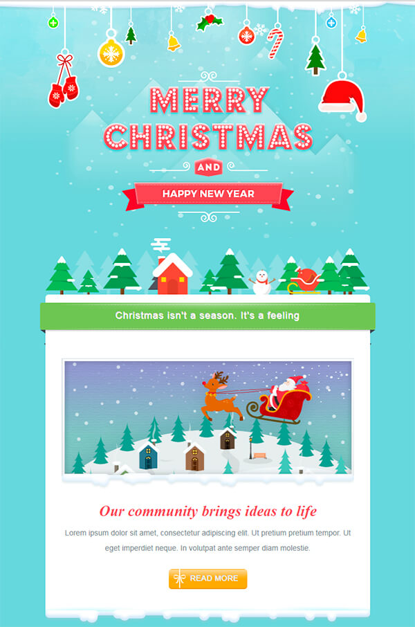 Christmas Email Templates For The Upcoming Holiday Mailing GT Themes - Mailchimp holiday templates
