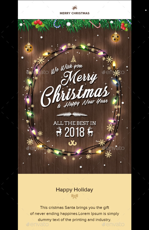 a modern christmas email template suitable for holiday wishes congratulations and promotion the template comes in psd format