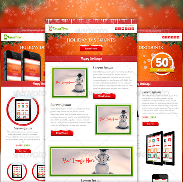 Christmas Email Templates For The Upcoming Holiday Mailing GT Themes - Mailchimp psd template