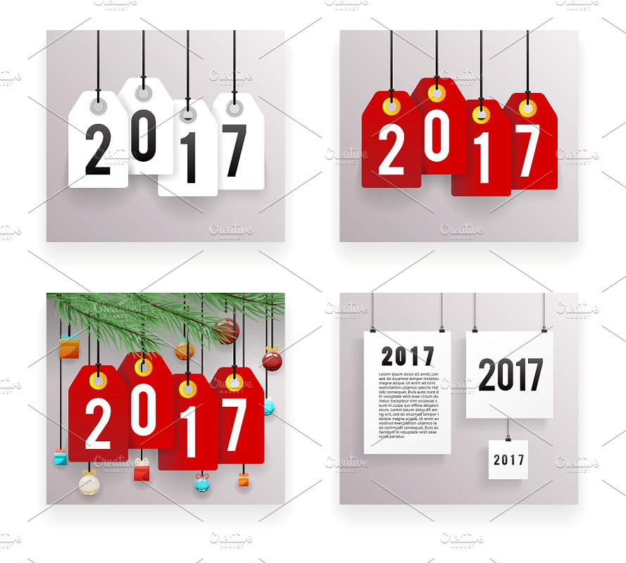 2017-new-year-text-symbol-paper-labels-set-template-vector-illustration
