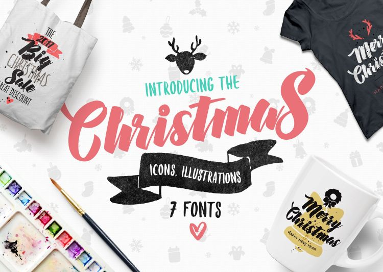 Christmas Bundle of 7 Fonts