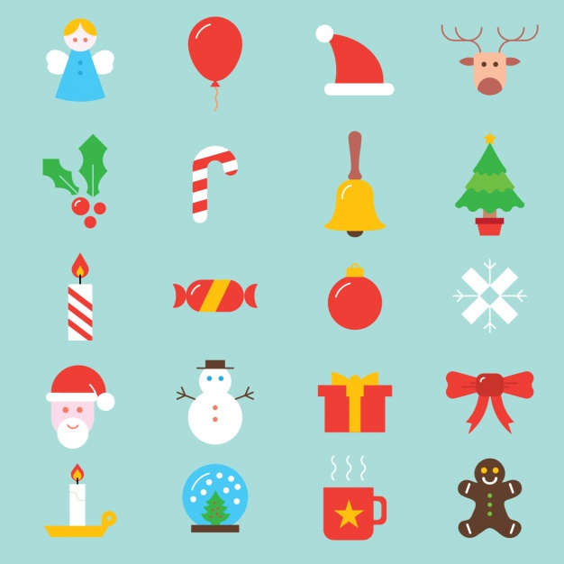 Christmas icons collection Free Vector2