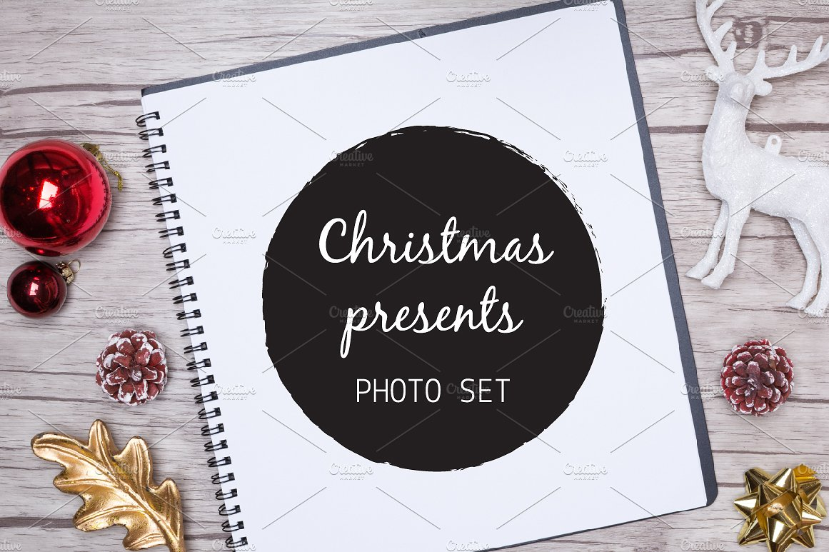 Christmas presents Mock up photos