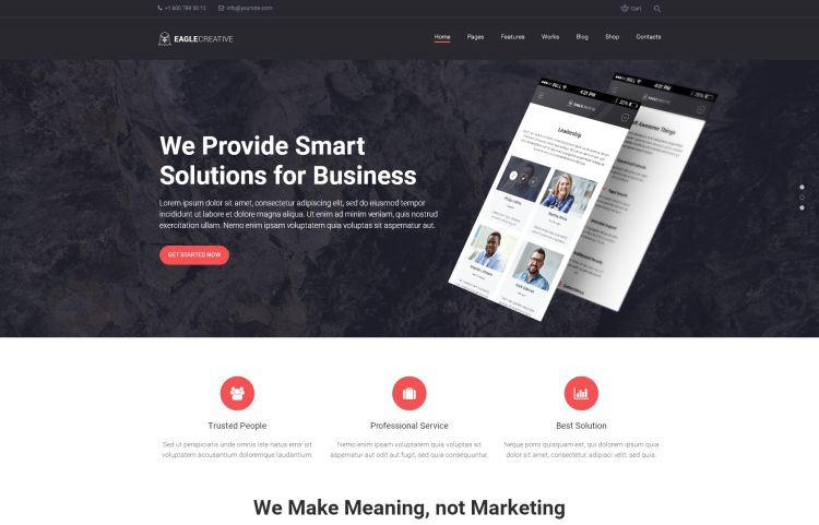 Eagle – Creative Business WordPress Theme