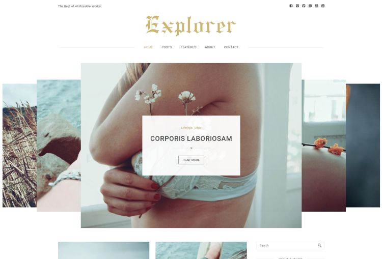 Explorer Personal Blog WordPress Theme