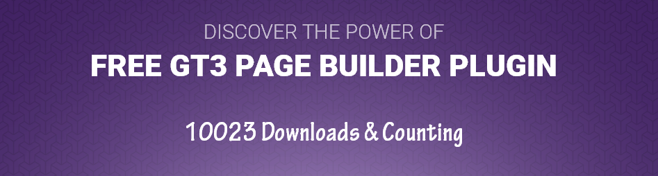 Free GT3 Page Builder Plugin