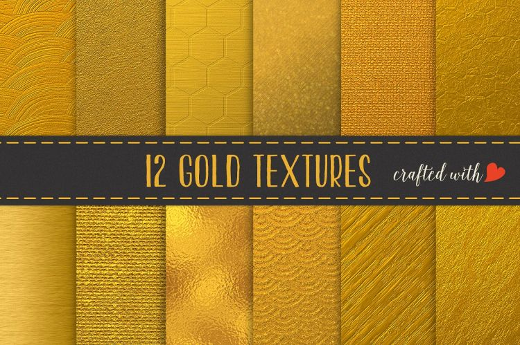 Gold Textures - Foil, Canvas, Burlap