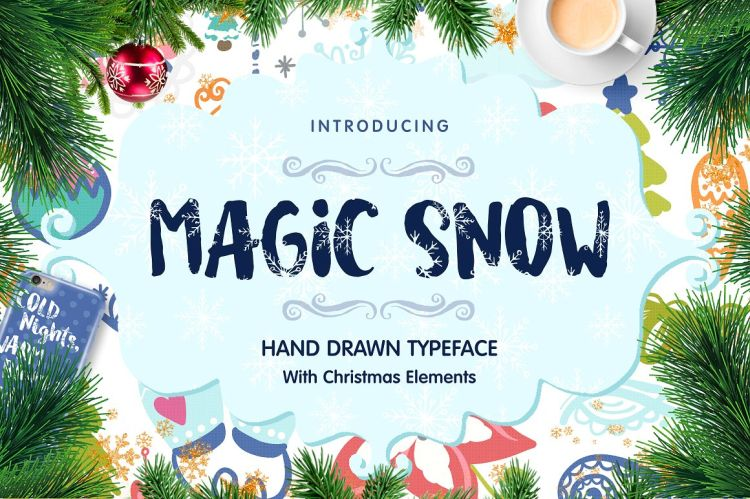 Magic Snow - Christmas Typefase
