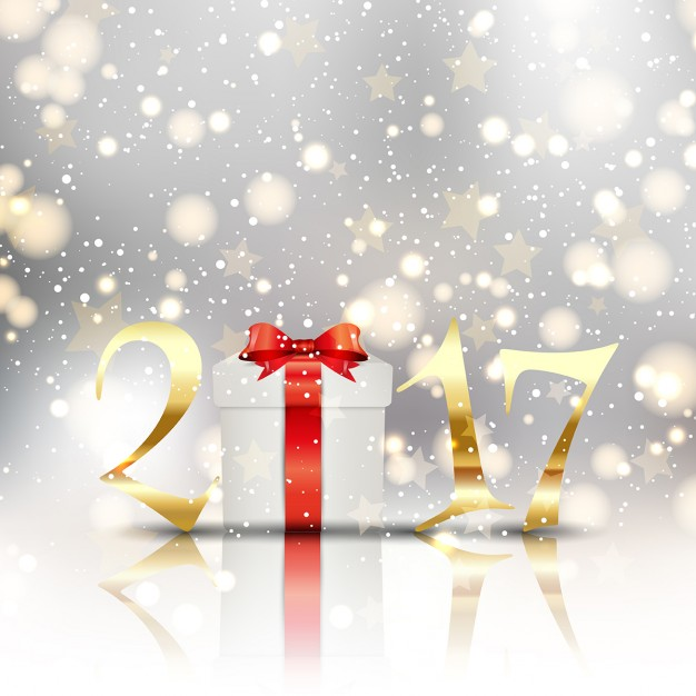 Magical background for new year Free Vector