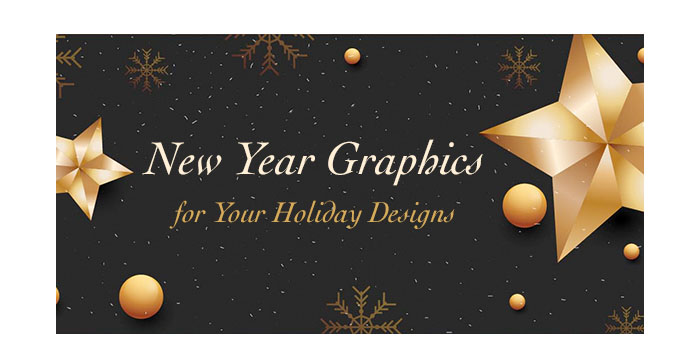 New Year Graphics for Your Holiday Designs