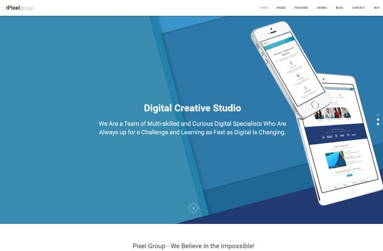 PixelGroup – Design Portfolio WordPress Theme