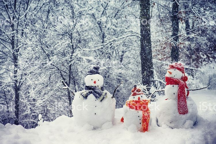 Snowmen Family - Stock Image
