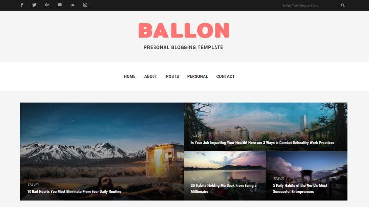 baloon-premium-html-template