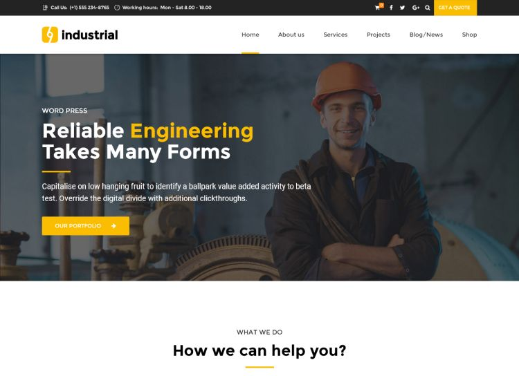 industrial-premium-wordpress-theme