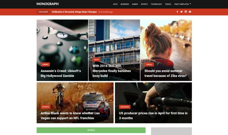 monograph-free-wordpress-theme