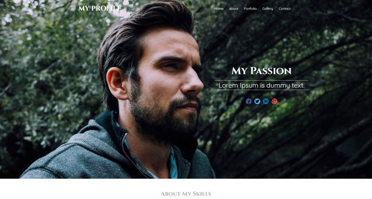 my-profile-free-html-template