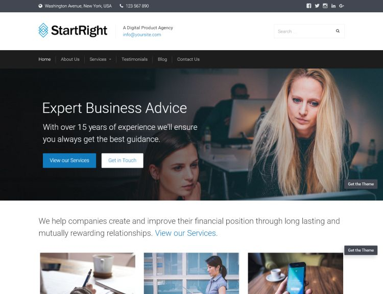 startright-free-wordpress-theme