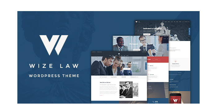 A New Lawyers and Attorneys WordPress Theme - WizeLaw
