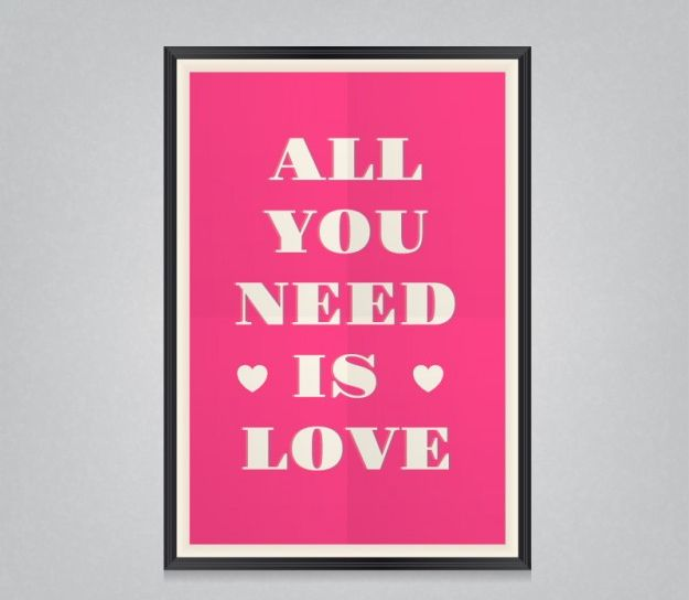 All you need is love poster Free Vector