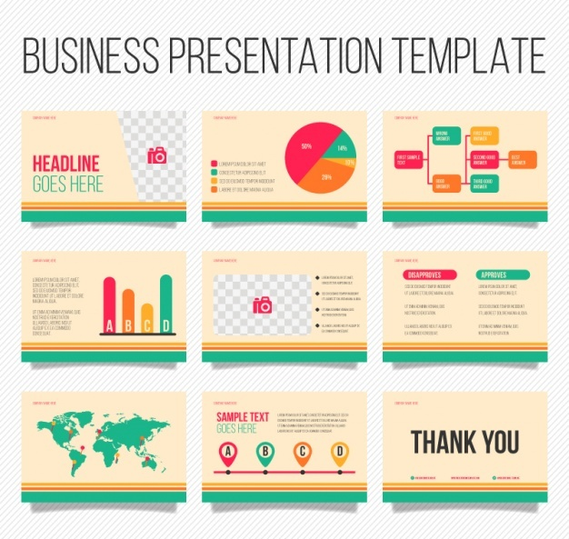 vector presentation template – brettfranklin.co, Digital Pulmanotry Vessel Medical Presentation Template, Presentation templates