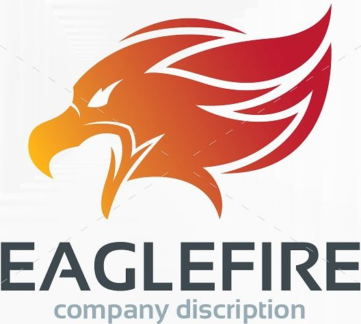 Eagle Fire Logo Template