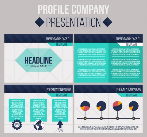 Geometric business presentation Free Vector