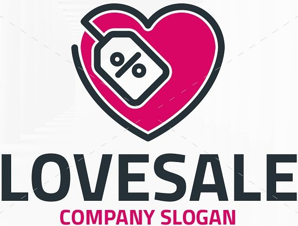 Love Sale Logo Template