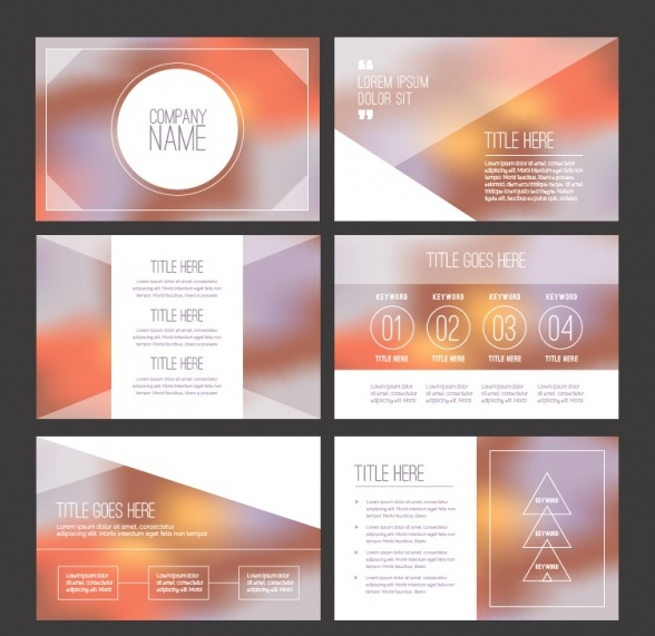 Unfocused business presentation Free Vector