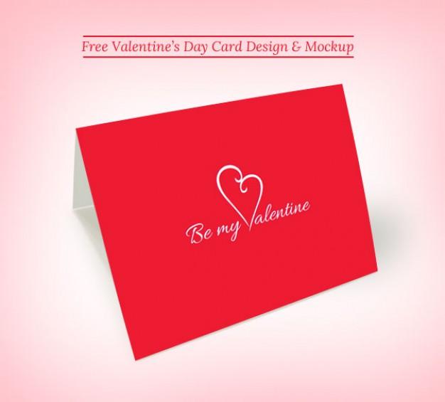 Valentine greeting card mockup Free Psd