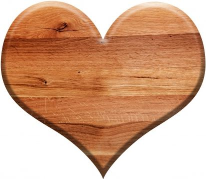 Wooden sign shaped heart Free Photo