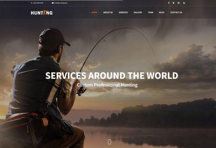 hunting-premium-html-template