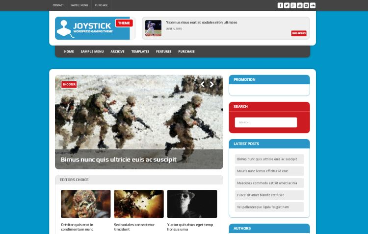 joystick-free-wordpress-theme