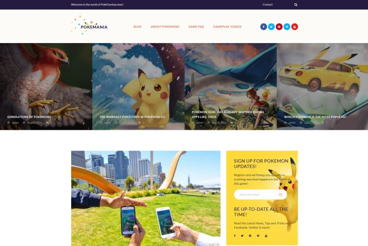 pokemania-premium-wordpress-theme