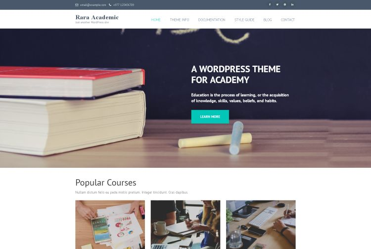 rara-academic-free-wordpress-theme