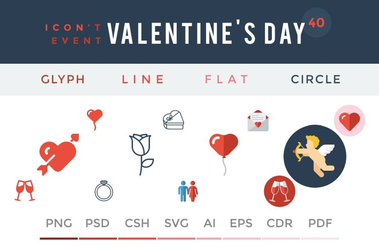 valentine's-day-icon-set