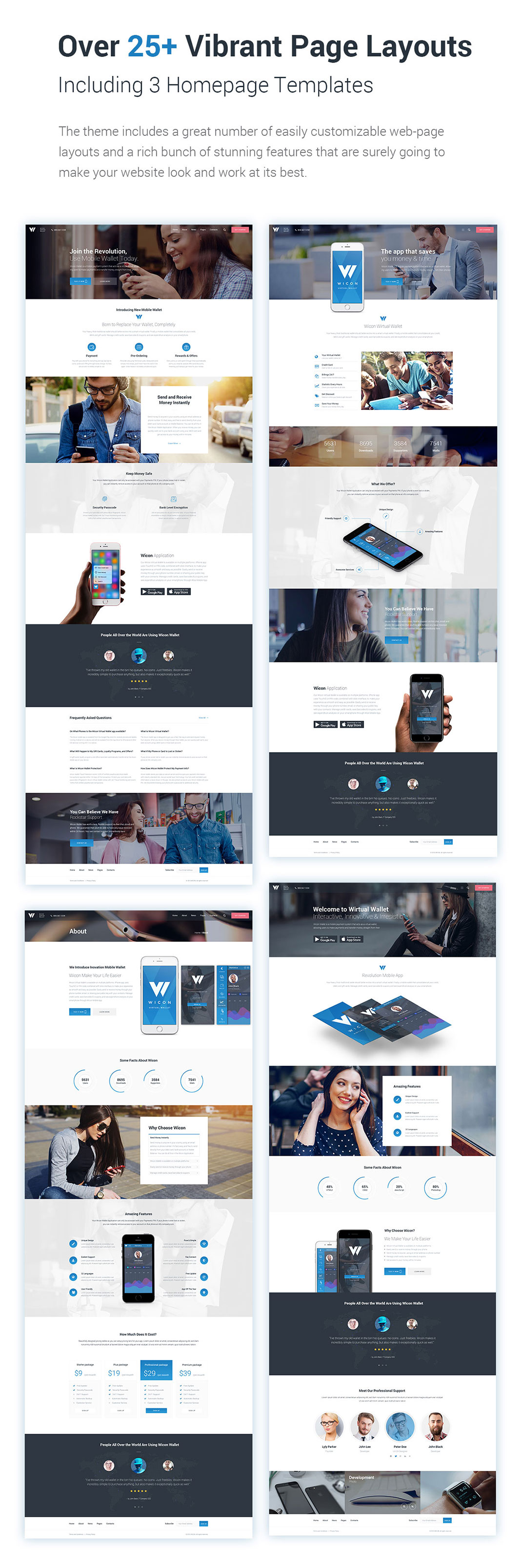 Mobile wallet application wordpress theme wicon pronofoot35fo Gallery