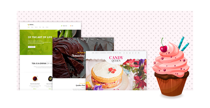Bakery and Candy Shop WordPress Themes for 2017