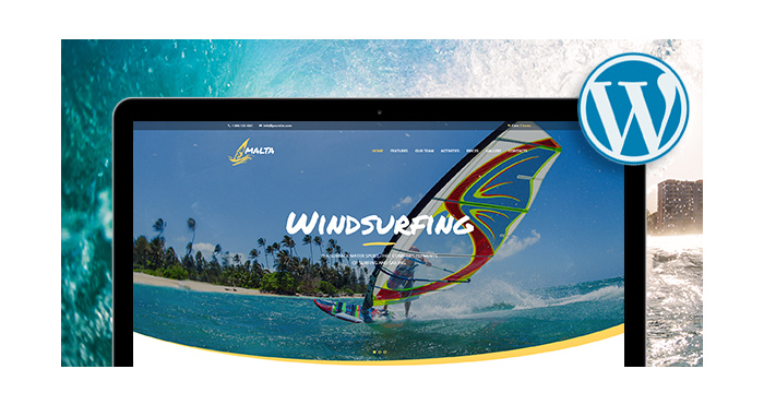 Kite Surfing and Beach Sports WordPress Themes for March 2017