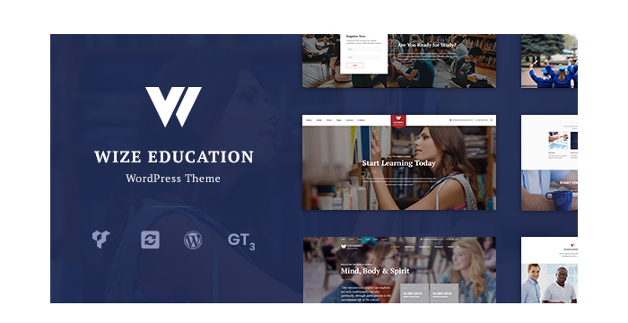 Meet a New Education Courses and Events LMS WordPress Theme - WizeEdu