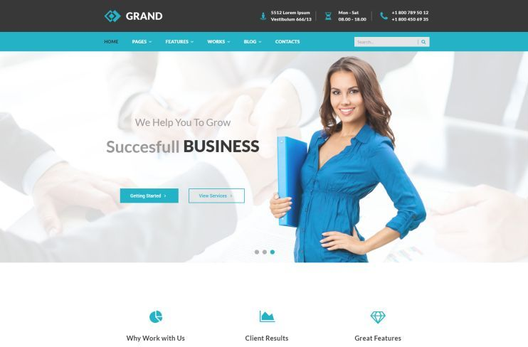 Best financial company and consulting wordpress themes for march a clean and minimal corporate wordpress theme carefully designed and professionally coded to meet the needs of contemporary businesses cheaphphosting Image collections