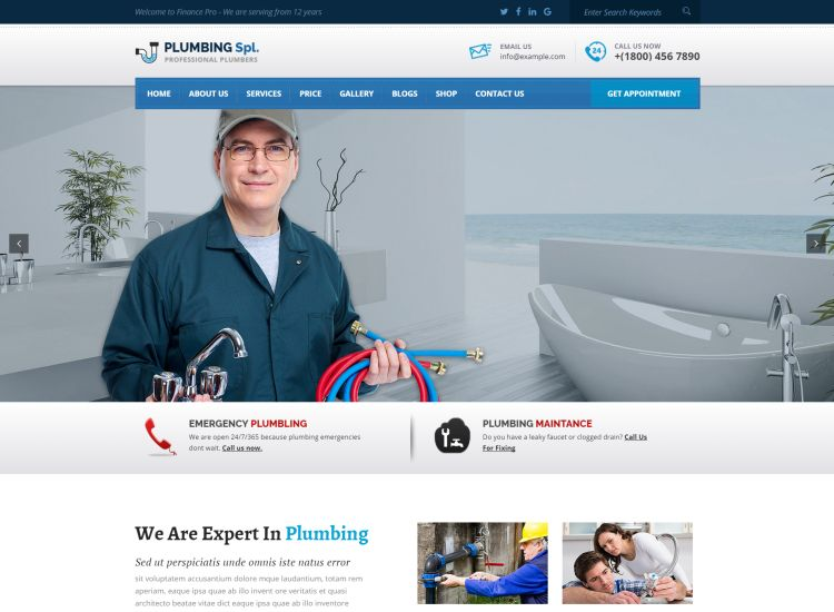 Cleaning and Repair Services WordPress Themes for 2017 | GT3 Themes