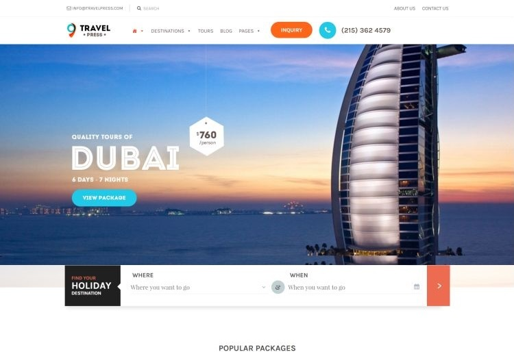 Europe Traveling WordPress Themes for March 2017 | GT3 Themes