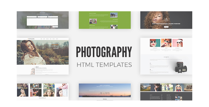 Photography HTML Templates (Free and Premium Versions) 2017
