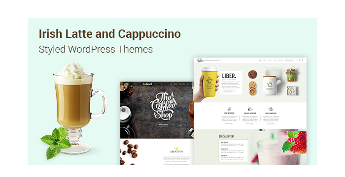 irish Latte and Cappuccino Styled WordPress Themes for Your Coffee Shops