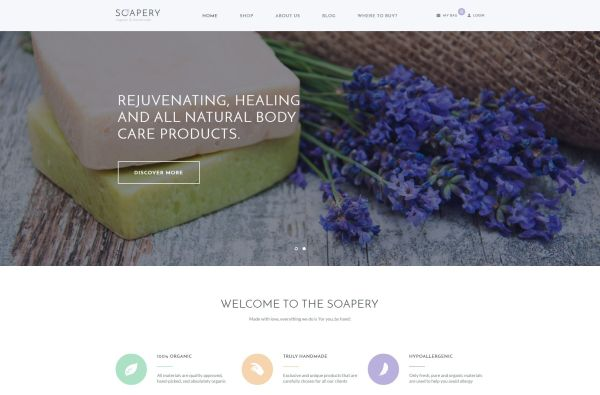 Handmade Soap and Natural Beauty Products WordPress Themes