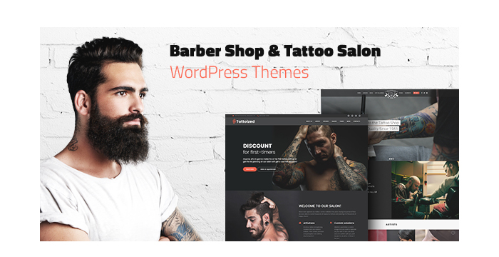 Barber Shop and Tattoo Salon WordPress Themes for May 2017
