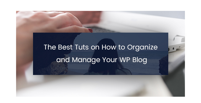 The Best Tuts on How to Organize and Manage Your WP Blog 1