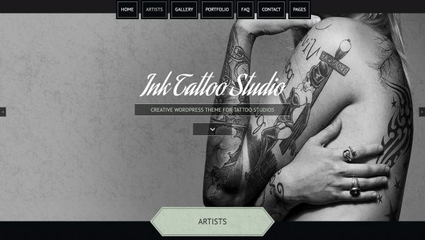 Barber shop and tattoo salon wordpress themes for may 2017 for Premium tattoo ink