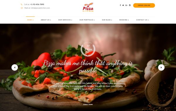 Pizza and pizzeria html templates for may 2017 gt3 themes a premium responsive and retina ready html template built on bootstrap and available with a fully flexible layout you will observe amazing css3 effects and forumfinder Images