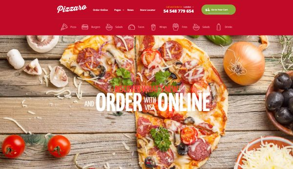 Pizza and Pizzeria HTML Templates for May 2017 | GT3 Themes